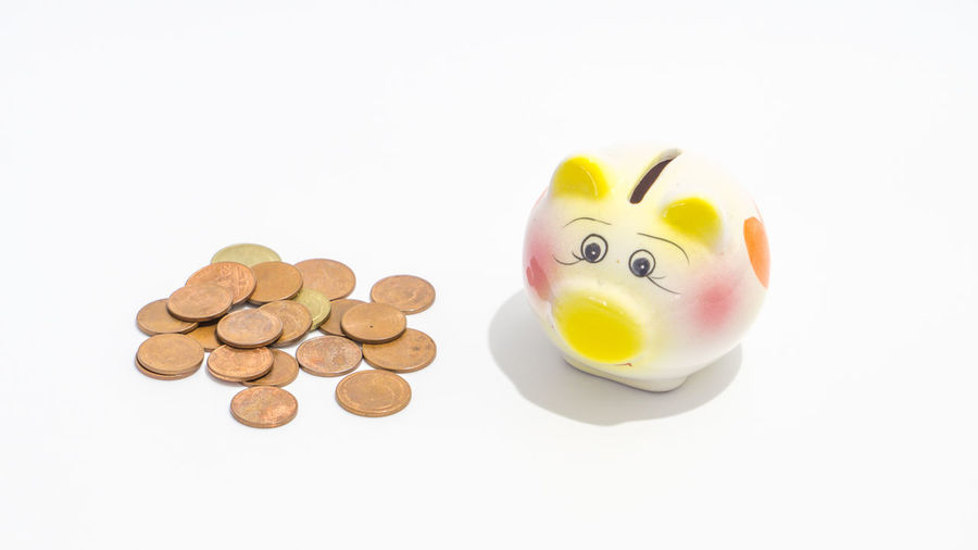 piggy bank Animal Representation Business Close-up Coin Coin Bank Copy Space Currency Cut Out Economy Finance Financial Item High Angle View Indoors  Investment Large Group Of Objects No People Piggy Bank Representation Savings Still Life Studio Shot Wealth White Background