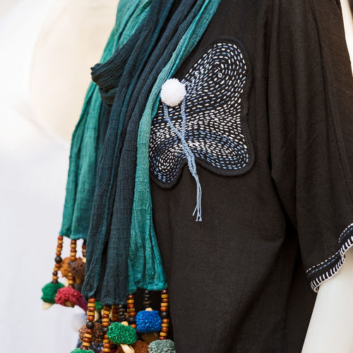 Close-up of clothing hanging