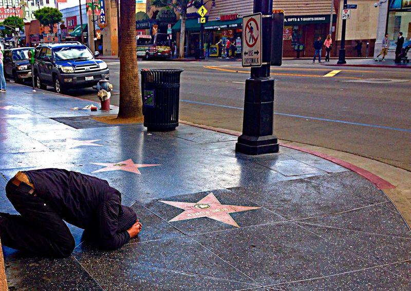 Hollywood Blvd Walk Of Fame Sadness Star Despair Prayer Grief SURRENDER
