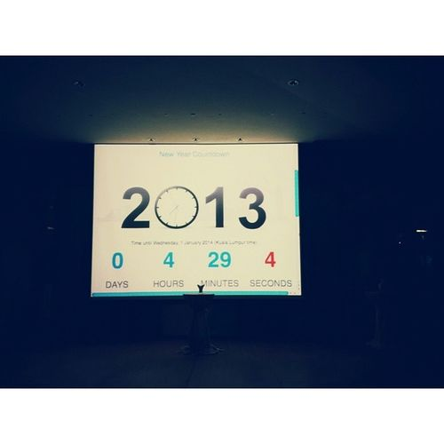 Countdown to 2013. Newyearseveduty