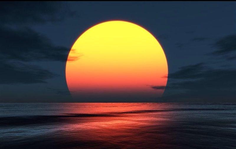 Couché De Soleil Nature Soleil Magnifique Mer Ocean