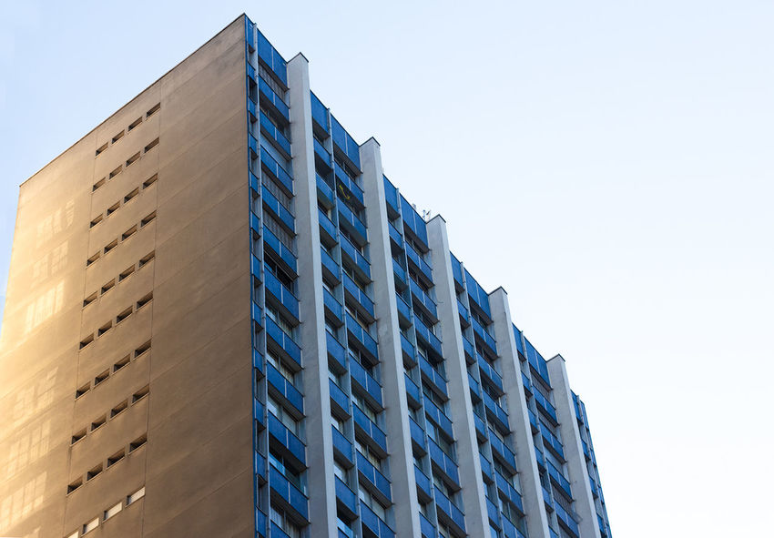 Architecture Blue Blue Sky Built Structure Day Low Angle View No Clouds No People Outdoors Sky Urbam