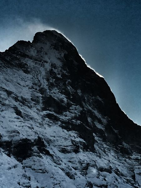 Eiger Mountain Grindelwald Clouds And Sky Silhouette