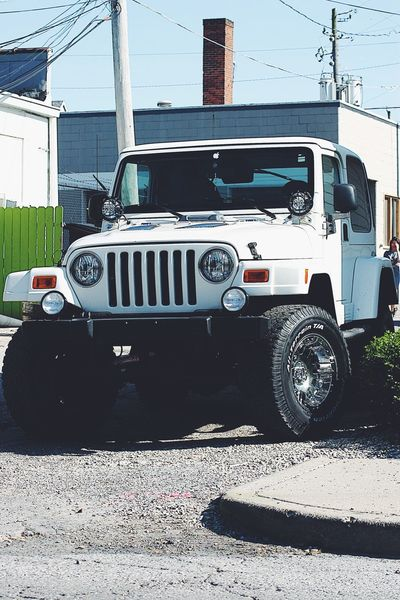 Land Vehicle Transportation Mode Of Transport Stationary Car Day No People Outdoors Shadow Building Exterior Jeep Jeep Life Jeep Wrangler