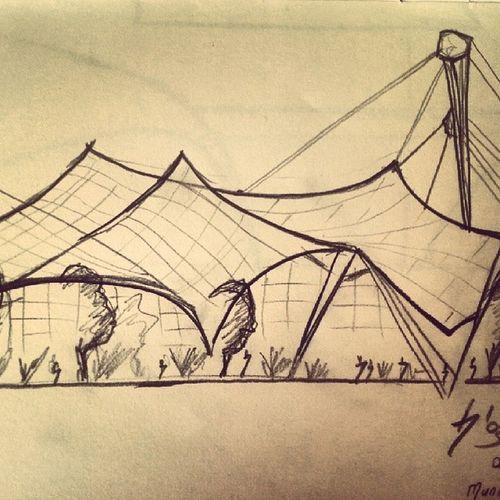 Olympiapark Munich Graniserlemimariadimlar Sketch