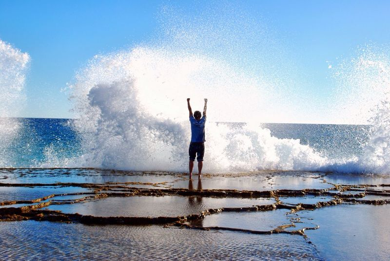 Live For The Story Outdoors Lifestyles Sea Water Travel Scenery Beach Exploring Wave Splashing Splash Motivational Free Freedom