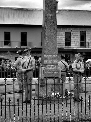 Adult Adults Only Anzac Day Architecture Australia Black And White Building Exterior Built Structure City Day Full Length Lestweforget Lifestyles Memorial Day Men Monochrome Monochrome Photography Outdoors People Real People Standing Togetherness Walking Women