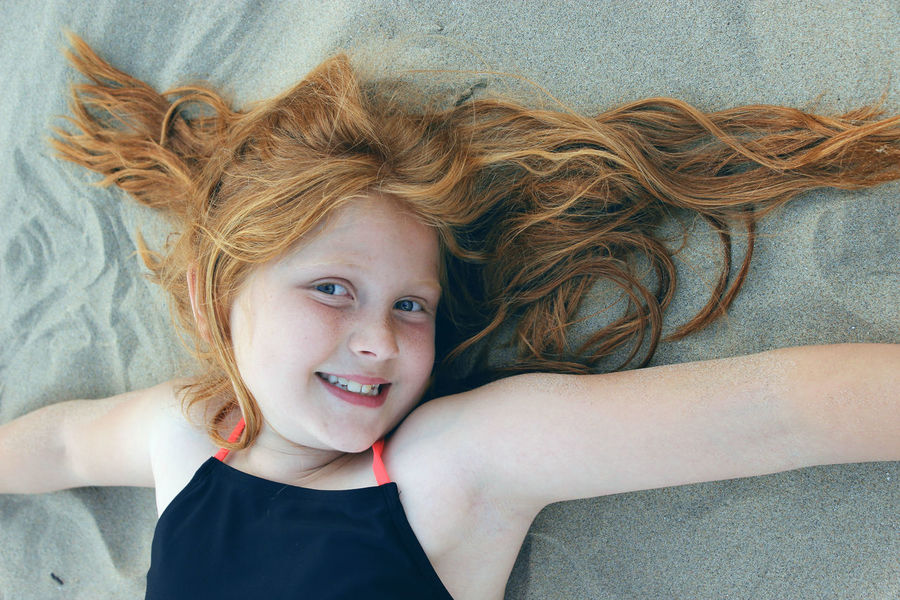 Childhood Close-up Girl Girls Happiness Lifestyles Looking At Camera Lying On Back Portrait Portraits Redhair Summer Sommergefühle Mix Yourself A Good Time Be. Ready.