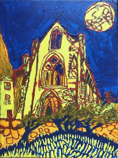 Abbaye de Beauport Paimpol 👨🏻🎨Géant vert acrylique 😍😌😊 Mathieu Mellot Art Brut Acrylique Géant Vert Expo Le Mans Art And Craft Religion Belief Representation Creativity Human Representation No People