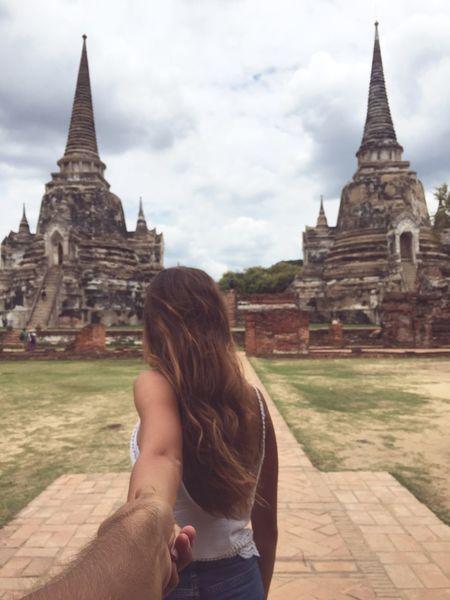 Travel Travelers Couple Love Ruins