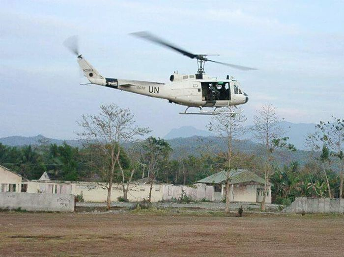 Military Police Helicopter UN Timor