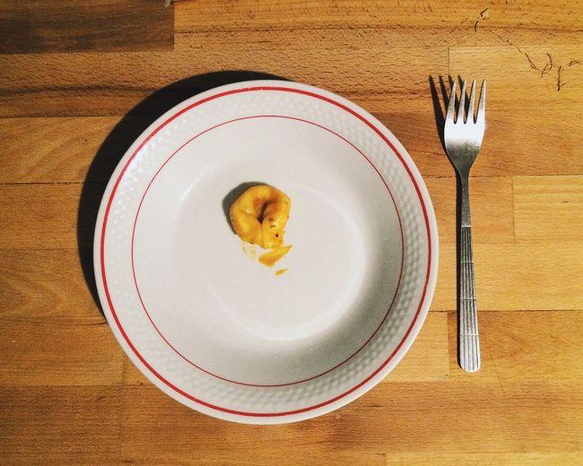 Single Dumpling On Plate