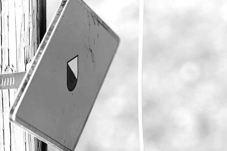 Blackandwhite Arrow Symbol Day Communication Guidance Low Angle View Arrow Outdoors Road Sign No People Sky Close-up Architecture