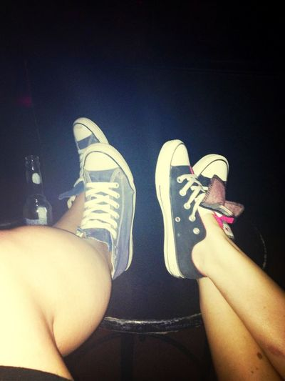 Feet Up Converse Nightclub Out With The Girlies