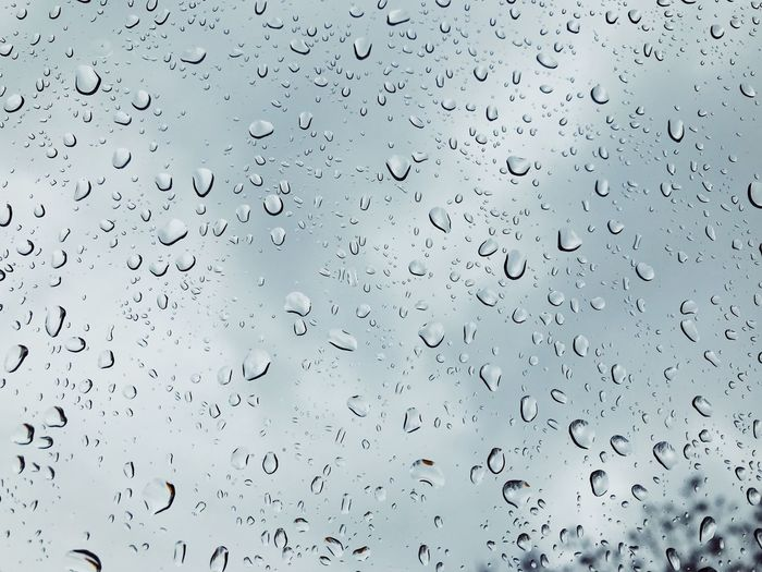 Raindrops on a