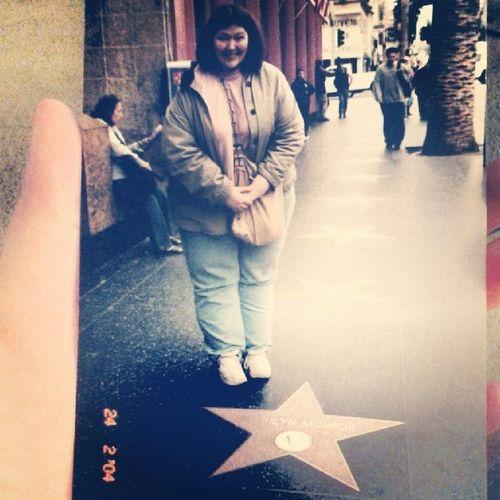 Me at Marilynmonroe star on the HollywoodWalkOfFame back in 2004.