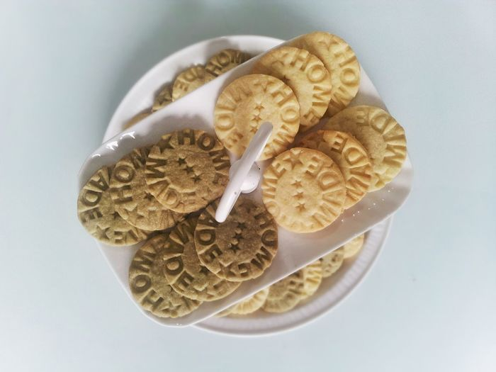 Cookie Homemade Alzata White Background Food Breackfast Tea Time Delicious Food Star Shortbread Cookies