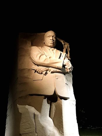 MLK memorial Nightphotography Night Sights Sightseeing MLK Memorial MLK EyeEm Selects Human Representation Religion Standing Spirituality Statue Adult Sculpture