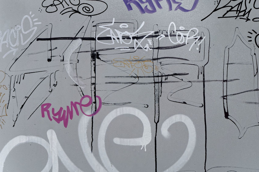 Script Art And Craft Backgrounds Black Color Built Structure Close-up Communication Creativity Full Frame Graffiti Information Multi Colored Mural No People Number Paper Sign Text Wall - Building Feature Western Script White Color