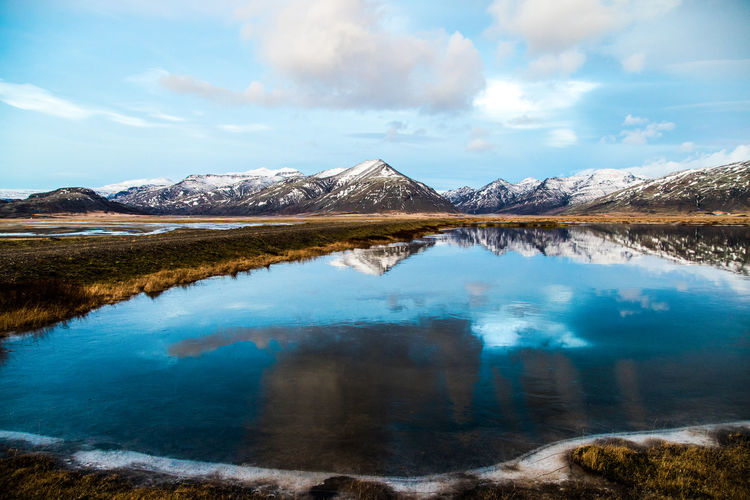 A small lake in the south of iceland