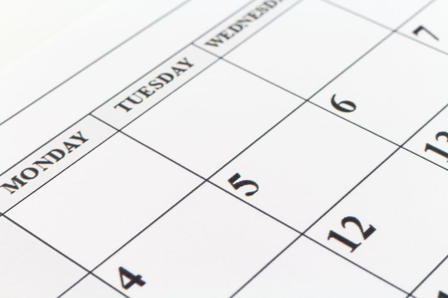 Calendar Daily Date Planner Date Holiday Weekend Birthday Close-up Day Days  Indoors  Month No People Number Paper Planner Remember Week