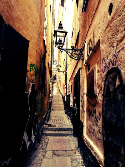 Travel Destinations City Streets Of Sweden Graffitti Stairsandsteps