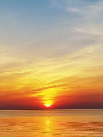 Sanset The San Rampage  Water Low Tide Sea Saturated Color Sunset Beach Horizon Beauty Silhouette Romantic Sky