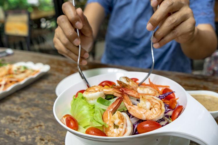 eating healthy lifestyle Keep Healthy Eat Healthy Stay Healthy Vegan Food Salad Organic Food Fresh From Farm ^_^ Grilled Shrimp Let's Eat Slim Body
