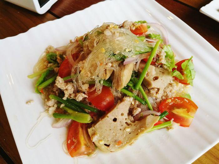 Food Thai Food Salad Noodle Glass Noodles Vermicelli Vietnamese Food Vietnamese Pork Roll Pressed Pork Spicy Food EyeEmNewHere