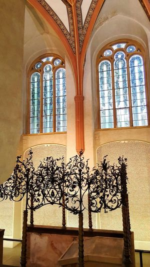 Window Religion Indoors  History Arch Place Of Worship Architecture No People Travel Destinations Pinkas Synagogue Jewish Synagogue Jewish Museum Indoors  Spirituality Architecture Second World War Memorial Empty Places Names Death Memorial
