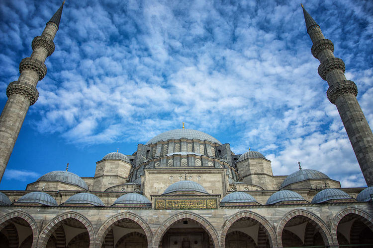 Architecture Architecture_collection Arabic Architecture Arch Architecture Building Exterior Built Structure Cloud - Sky Day Dome Low Angle View Mosque Mosque Architecture No People Outdoors Place Of Worship Religion Sky Spirituality Travel Destinations