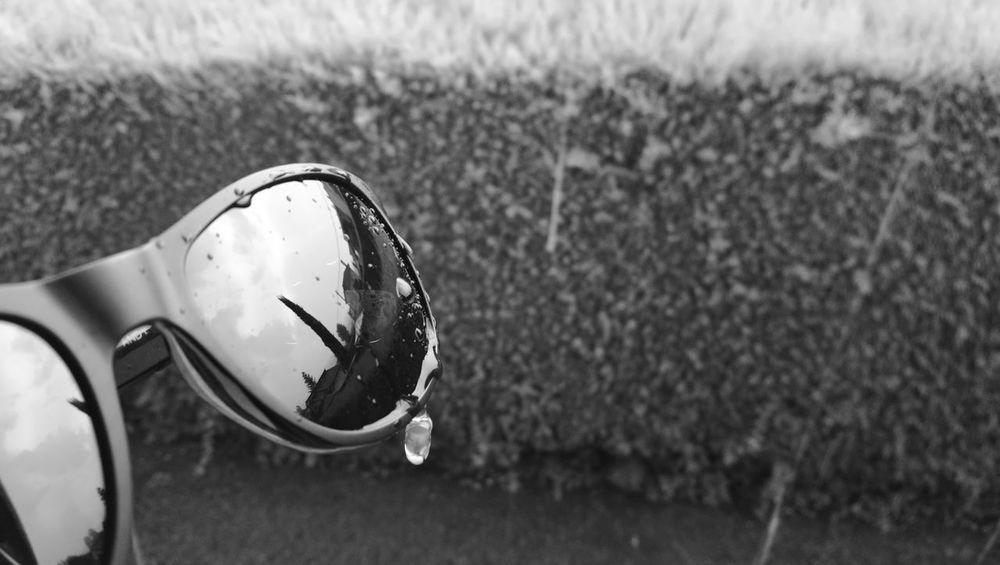 Gafas en la lluvia