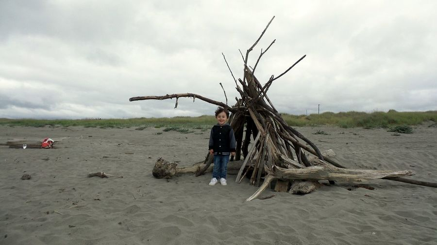 Portrait Sky Looking At Camera Horizon Over Water Day Beach Sea One Person Outdoors Cloud - Sky Sand People Nature Washington Long Beach Washington My Boy Child Water