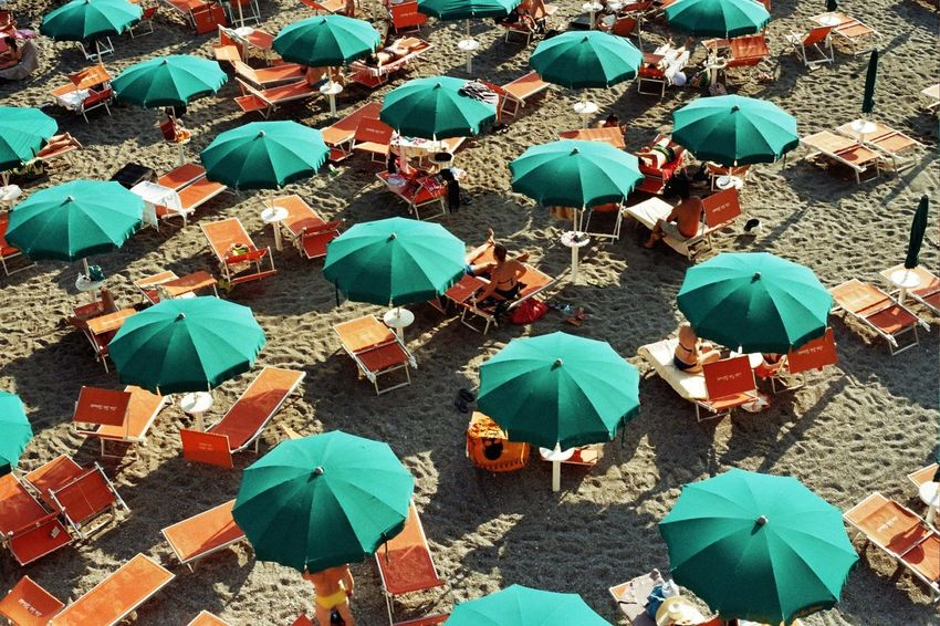Amalfi Coast Analog Analogue Analogue Photography B Chilling Colors EyeEm EyeEm Best Shots EyeEm Gallery Green Color Italy Orange People Sand Streetphotography Sun Sunbathing TheWeekOnEyeEM Umbrella