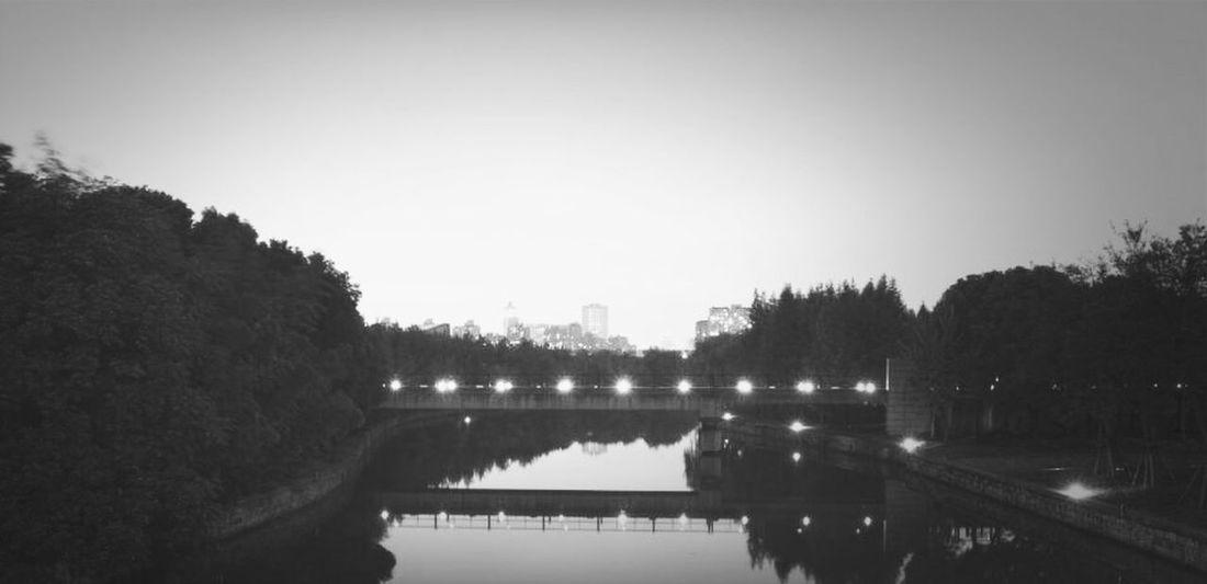 Long shutter at night, near Pudong lib