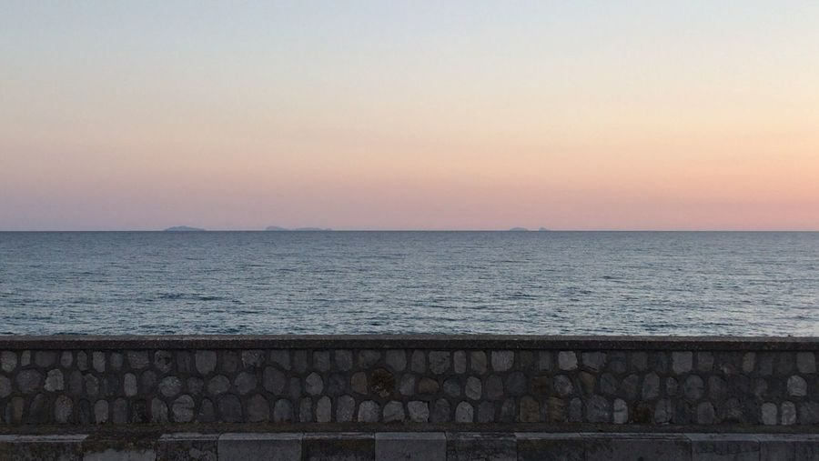 Islands: Zannone, Ponza and Palmarola Water Sky Sea Scenics - Nature Horizon Horizon Over Water Sunset Beauty In Nature Tranquility Tranquil Scene Nature No People Copy Space Idyllic Architecture Railing Outdoors Cloud - Sky Remote