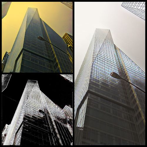 City Cityscape Urban Skyline Modern Skyscraper Futuristic Illuminated City Life Steel Tower Office Building