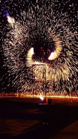 Show Show Man Fire And Flames Firework Display Fire Motion Long Exposure Illuminated Wire Wool Spinning Firework Light Trail Firework - Man Made Object Entertainment Sparkler