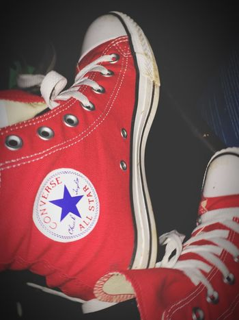 Converse Red Chuck Taylor Taking Photos Chilling Relaxing