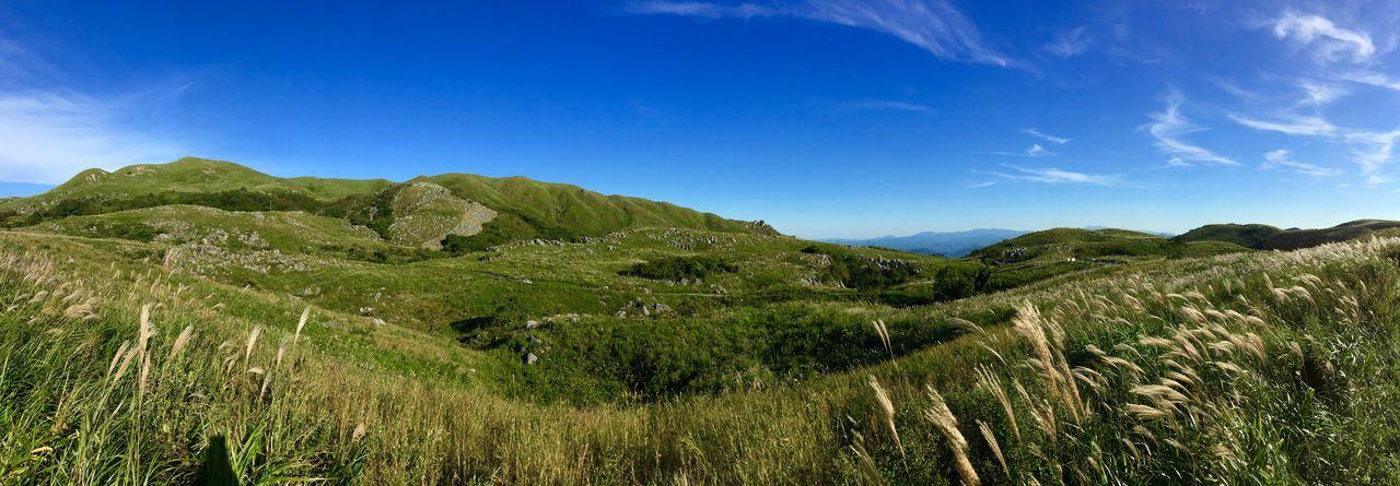 日本三大カルスト台地の一つ。平尾台の秋晴れ(๑ت๑) 平尾台 Sky Mountains Skyandclouds  Kitakyushu Japan Panorama