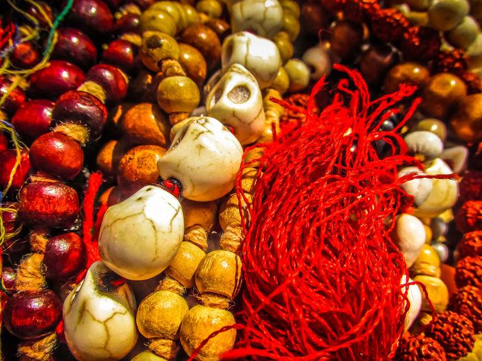 Full Frame Shot Of Beads For Sale