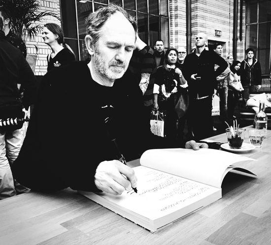 Anton Corbijn Book Signing 1-2-3-4 Black & White Black And White Blackandwhite Gemeente Museum Hollands Deep IPhoneography IPhone