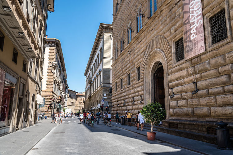 Strozzi Palace in Florence City Cityscape Firenze Renaissance Travel Architecture Building Exterior Built Structure City Clear Sky Day Historic No People Outdoors Palace Renaissance Architecture Sky Street Strozzi Travel Destinations