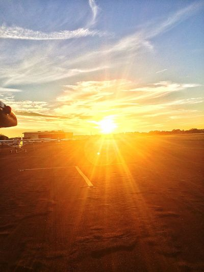Before sunset at deland airport