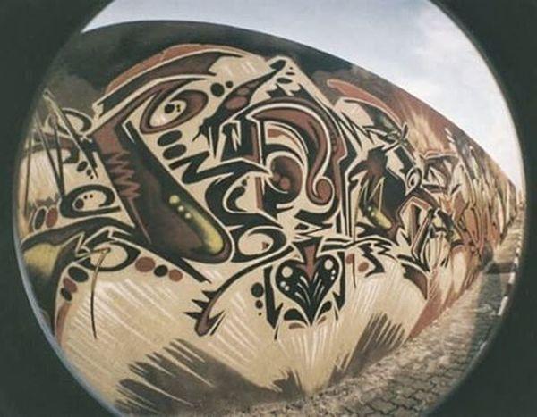 Spray paint on concrete wall TBT  Throwbackthursdays Filmography Analogue Analog Lomo Lomography Fisheye Fisheye2 Kamerafisheye Kamerafilm Throwback 35film 35mm 35 Lomogram Lomografia