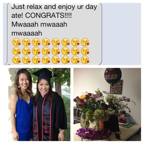OMG finally.. 05.21.2013 CSUN Ba CollegeofHHD Cadv 2013 ClassOf2013 Gomatadors Redandblack can't wait to get my Má in OT !! @kulotsky25 i am beyond happy and thankful how we have become such great friends.. Thanks for always hearing me out! especially about moobie!! But also Myfavlil Myfavnene Mylonglosttwinnie Friendsforever Wearelikefamily Love u Nene !!! Hehe 👯😊😘☺👭
