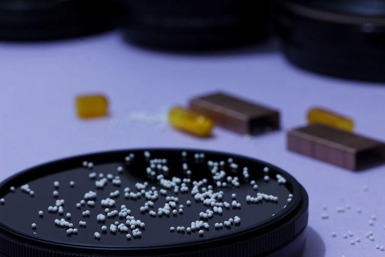 Close-up of polystyrene balls