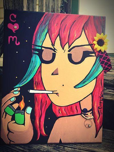 Doghairstudio Gifted Art Ramonaflowers Mixed-medium Handmade In Love ♡  Gypsylife Art Is Life