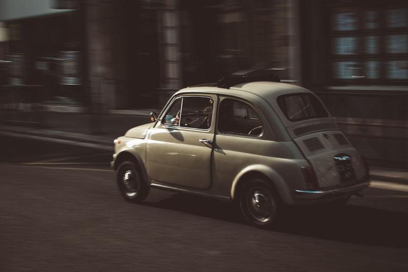Car on street in city