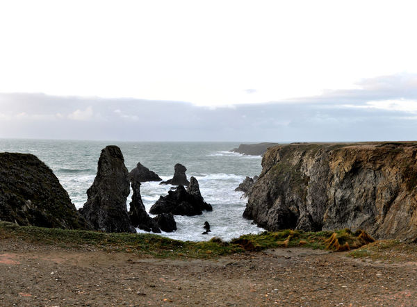 Belle Ile En Mer, France Panoramic Beauty In Nature Cliff Day High Definition Horizon Over Water Nature No People Ocean Outdoors Rock - Object Scenery Sea Sky Water